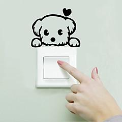 애니멀 / 카툰 / 워드&인용구(부호) / 로맨스 / 패션 / 풍경 / 모양 / 빈티지 / 판타지 벽 스티커 플레인 월스티커,PVC 13cm x 10cm ( 5in x 4in )