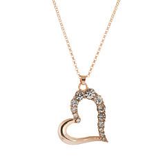 Dames Hangertjes ketting Hangers Kristal Hartvorm Strass Oostenrijks kristal Legering Liefde Kostuum juwelen Sieraden Voor Bruiloft Feest