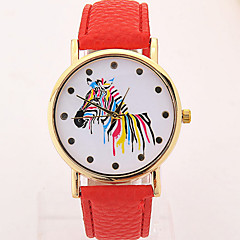 Women's Fashionable Leisure Slim Zebra Dial Watch Leather Band Cool Watches Unique Watches