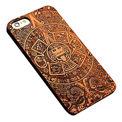 iPhone 7 Plus Mayan Style Removable Luxury Pear Wood Back Case for iPhone 6s 6 Plus