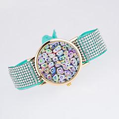 Dames Modieus horloge Kwarts Roos verguld Stof Band Zwart Wit Blauw Rood Bruin Groen Roze Paars rozeRood Blauw Roze Lichtblauw Licht