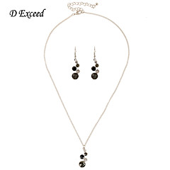 D Exceed 2016 Mother's Day Gift Crystal Heart Necklace Earrings Set
