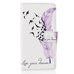 Voor LG hoesje Kaarthouder / Portemonnee / met standaard / Flip / Patroon hoesje Volledige behuizing hoesje Veer Hard PU-leer LG