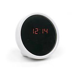 créatif tableau muet horloge horloge électronique conduit réveil beauté horloge avec miroir (couleurs assorties)