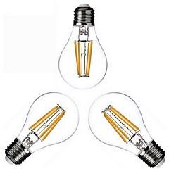 3 pezzi KWB E26/E27 4W 4 COB 400 lm Bianco caldo A60(A19) edison Vintage Lampadine LED a incandescenza AC 220-240 / AC 110-130 V