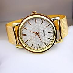 Women's Fashionable  Leisure Grid Scale Quartz Watch Alloy Band Cool Watches Unique Watches