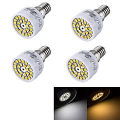 YouOKLight® 4PCS  E14 3W 24-SMD 2835 LED Spotlight Warm White  Cold White 240lm (AC 220~240V)