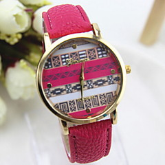 Women's Fashionable Leisure  Ethnic Style Watch Leather Band