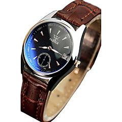 YAZOLE 306 Men Fashion Casual Luminous Hands Calendar Leather Quartz Watch montre homme wristwatch Wrist Watch Cool Watch Unique Watch