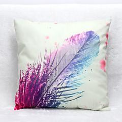 3D Feather Pattern Velvet Pillowcase Sofa Home Decor Cushion Cover (18*18inch)