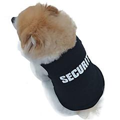 Katte Hunde T-shirt Sort Hundetøj Sommer Politi/Militær Bryllup Cosplay Mode