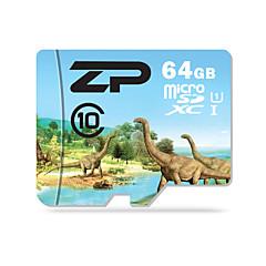 ZP 64GB Tarjeta TF tarjeta Micro SD tarjeta de memoria UHS-I U1 Clase 10