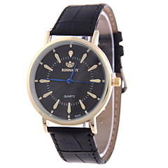 Men's Casual Fashion Large Quartz Watch with Diamond Dial Ultralight Bamboo Leather Band Cool Watch Unique Watch