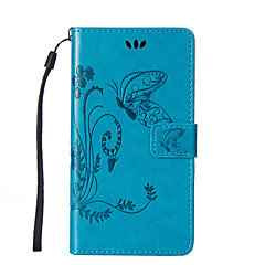For LG L90/K10/K7/H422/G4/G3Mini/G3  Flowers Butterfly Pattern Inside and Outside Printing Holder PU Leather Case