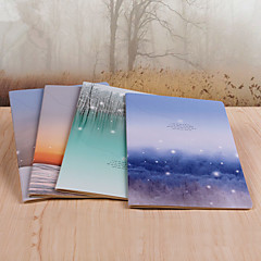 1PC Beautiful Sunset Inside Pages Article Single Thread For This Notebook(Style random)