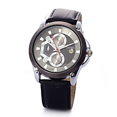 Men's Casual Fashionable Black High-end Business Watch Leather Band Cool Watch Unique Watch