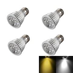 YouOKLight® 4PCS E27 5W Dimmable 5-LED Spotlight Warm White/Cold White 400lm  (AC110~120V/220-240V/85-265V)