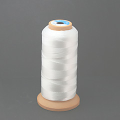 Beadia 480M/Roll 100% Nylon Thread 0.5mm White Beading Cord String DIY Accessories