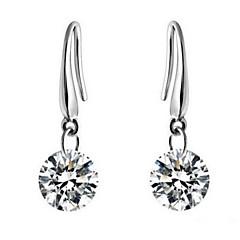 Earring Drop Earrings Jewelry Daily / Casual Alloy / Zircon Transparent / Silver