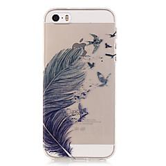 Na Etui iPhone 5 Ultra cienkie / Przezroczyste / Wzór Kılıf Etui na tył Kılıf Pióro Miękkie TPU iPhone SE/5s/5