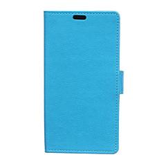 Voor Huawei hoesje Portemonnee / Kaarthouder / met standaard hoesje Volledige behuizing hoesje Effen kleur Hard PU-leer HuaweiHuawei P9