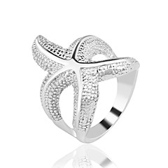 Ring Fashion Party / Daily / Casual Jewelry Alloy Women Statement Rings 1pc,7 / 8 / 9 / 10 Silver