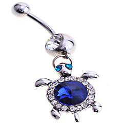 Damskie Biżuteria Navel & Bell Button Rings Srebro standardowe sztuczna Diament Unikalny Modny Biżuteria Niebieski BiżuteriaCodzienny