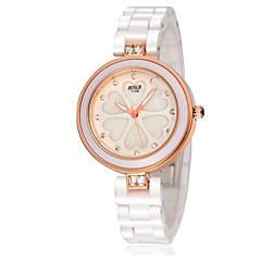 Mulheres Relógio de Moda Simulado Diamante Relógio Quartzo Impermeável Relógio Casual Cerâmica Banda Branco Branco