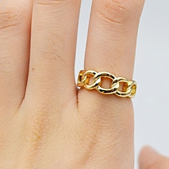 Gold Chain Band Midi Ring for Men/Women Jewelry