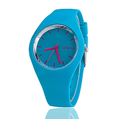 Unisex Fashion Hot Thin Silicone Candy Color Casual Watches