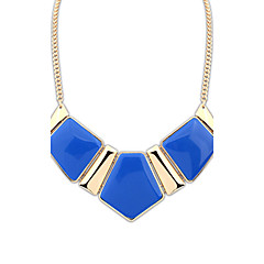 Women's Pendant Necklaces Gemstone Resin Alloy Fashion Luxury Jewelry Dark Blue Green Blue Pink Rainbow Jewelry Party Daily Casual 1pc