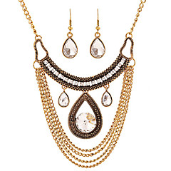 Alloy / Glass Jewelry Set Necklace/Earrings Party / Daily / Casual 1set