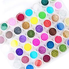 45PCS  Mix Color Nail Art  Acrylic Powder Nail Art Decoration