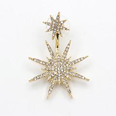 Κρεμαστά Σκουλαρίκια Στρας απομίμηση διαμαντιών Κράμα Μοντέρνα μινιμαλιστικό στυλ Star Shape Χρυσαφί Κοσμήματα Πάρτι Καθημερινά Causal 1pc