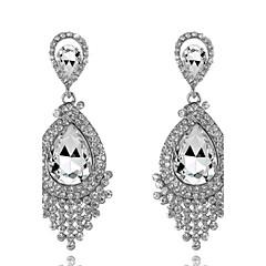 Lady's Gem Zircon Drop Earrings Fine Jewelry for Lady Party
