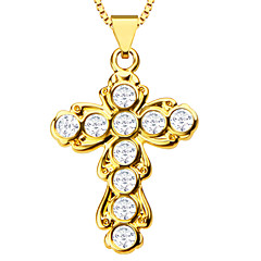 Fashion Cross Pendants Women or Men High Quality 18K Gold Plated Charm Jewelry Gift Necklaces Pendants P30091