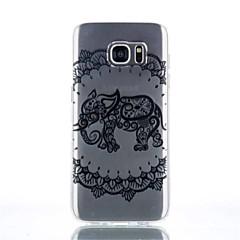 Elephant Pattern TPU Material Phone Case for Galaxy S4/S4Mini/S6/S6 edge/S6 edge plus/S7/S7 edge