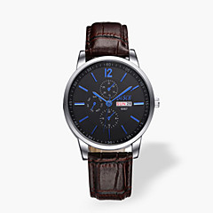 Men's Fashionable Leather Belt Waterproof Calendar Quartz Watches Wrist Watch Cool Watch Unique Watch