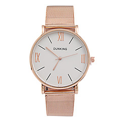 Women's Couple's Fashion Watch Strap Watch Quartz Alloy Band Charm Rose Gold Strap Watch