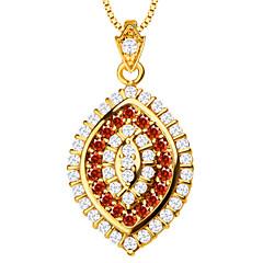 luxus cirkónium medál nyaklánc magas minőségű 18k aranyozott osztrák kristály divat ékszerek nők márka ajándék p30108
