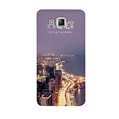 For Samsung Galaxy Case Pattern Case Back Cover Case City View Soft TPU J5