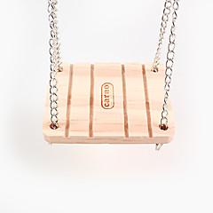 la campana swing, anelli di legno criceto, 1 pezzo