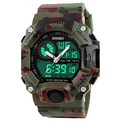 SKMEI® Men's Military Camouflage Analog-Digital Double Time Waterproof Sports Watch Wrist Watch Cool Watch Unique Watch