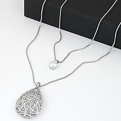 Halsband Hänge Halsband / Layered Halsband Smycken Party / Dagligen / Casual Dubbelt lager / Moderiktig Silver / Vit 1st Present