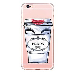 para o iphone 7 tampa traseira transparente do corpo / ultra-fino outra TPU softapple iphone SE / 5s / 5
