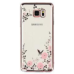 Για Samsung Galaxy Note Στρας / Επιμεταλλωμένη / Διαφανής / Με σχέδια tok Πίσω Κάλυμμα tok Λουλούδι TPU Samsung Note 5 / Note 4 / Note 3