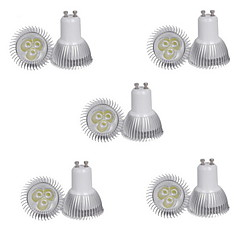 10st 3W GU10 350lm warm / koel wit kleur licht led spot lights (85-265V)