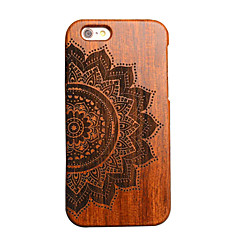 iPhone 7 Plus Wood Lucky Flower Carving Concavo Convex Hard Back Cover for iPhone 6s 6 Plus SE 5s 5