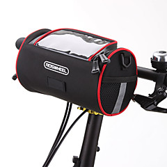 ROSWHEEL Bisiklet Çantası 2.8LBisiklet Gidon Çantaları Omuz çantası Su Geçirmez Fermuar Giyilebilir Nemgeçirmez Darbeye Dayanıklı