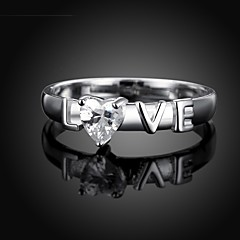 European Diamanted Silver Plated Statement Rings(1 Pc)